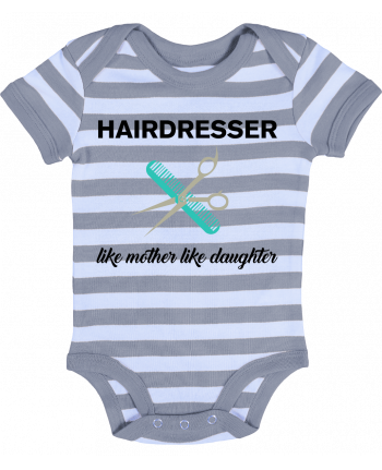 Baby Body striped Hairdresser like mother like daughter - tunetoo