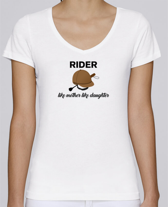 T-Shirt V-Neck Women Stella Chooses Rider like mother like daughter by tunetoo