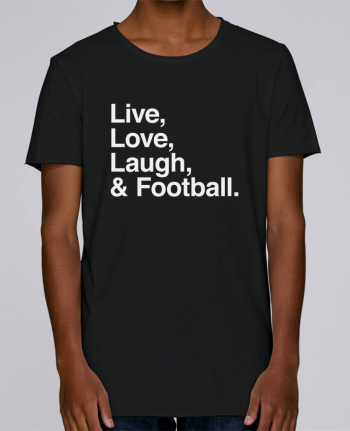 T-shirt Men Oversized Stanley Skates Live Love Laugh and football - white by justsayin