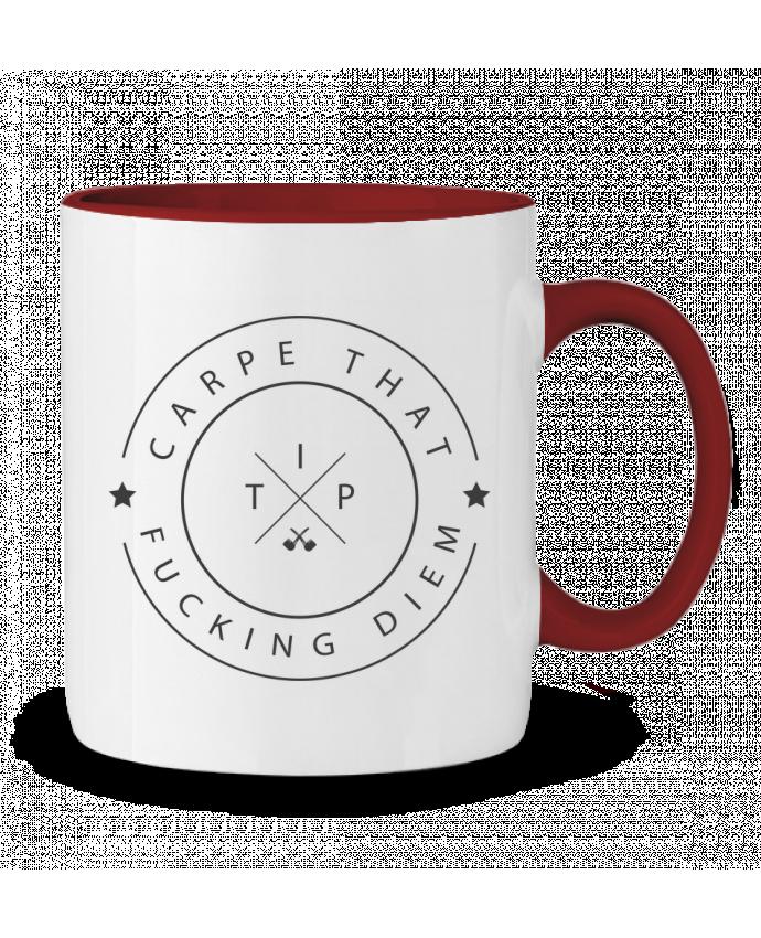 Two-tone Ceramic Mug Carpe that fucking diem justsayin