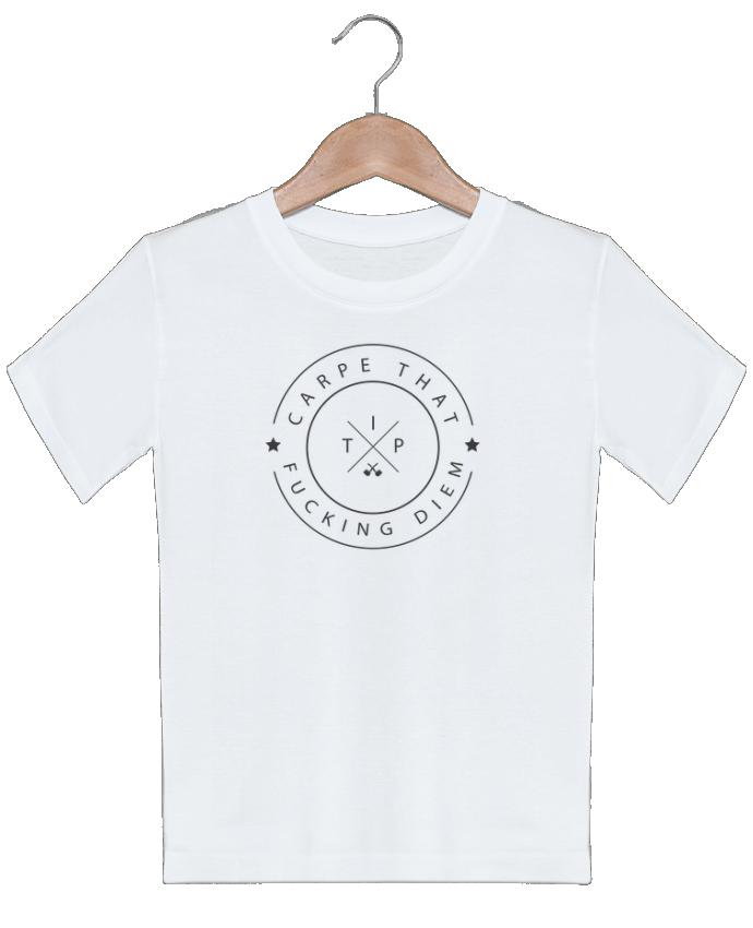 T-shirt garçon motif Carpe that fucking diem justsayin