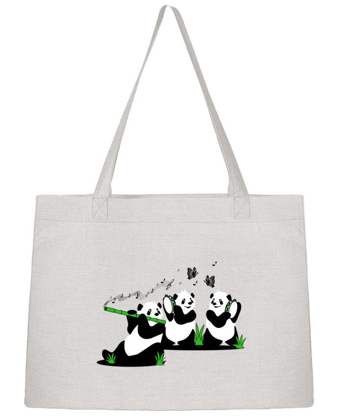 Shopping tote bag Stanley Stella panda's band by CoeurDeChoux