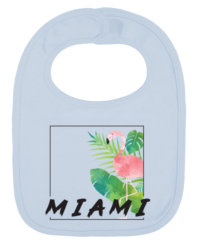 Baby Bib plain and contrast Miami by KOIOS design