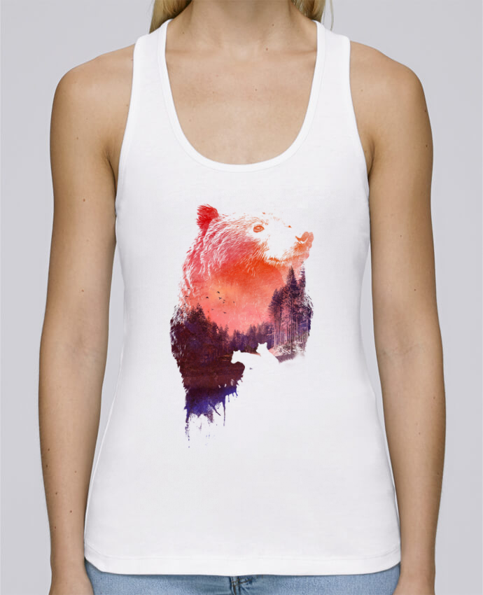 Tank Top Women Stella Dreams Organic Love forever by robertfarkas en coton Bio