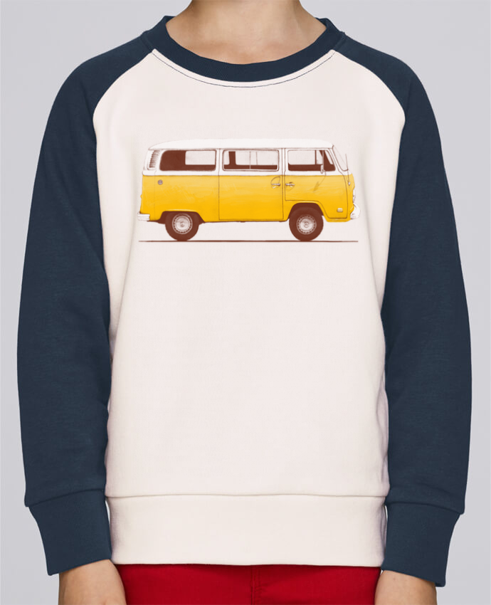 Sweat petite fille Yellow Van by Florent Bodart