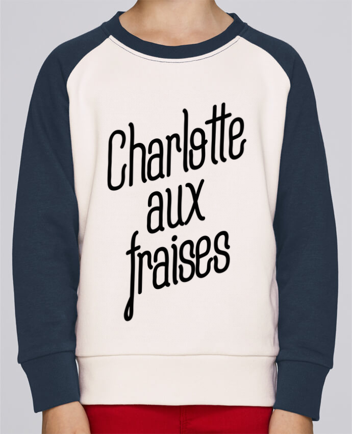 Sweat petite fille Charlotte aux fraises by tunetoo