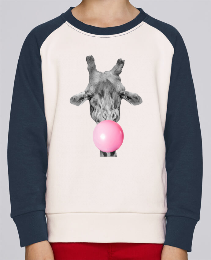 Sweat petite fille Girafe bulle by justsayin