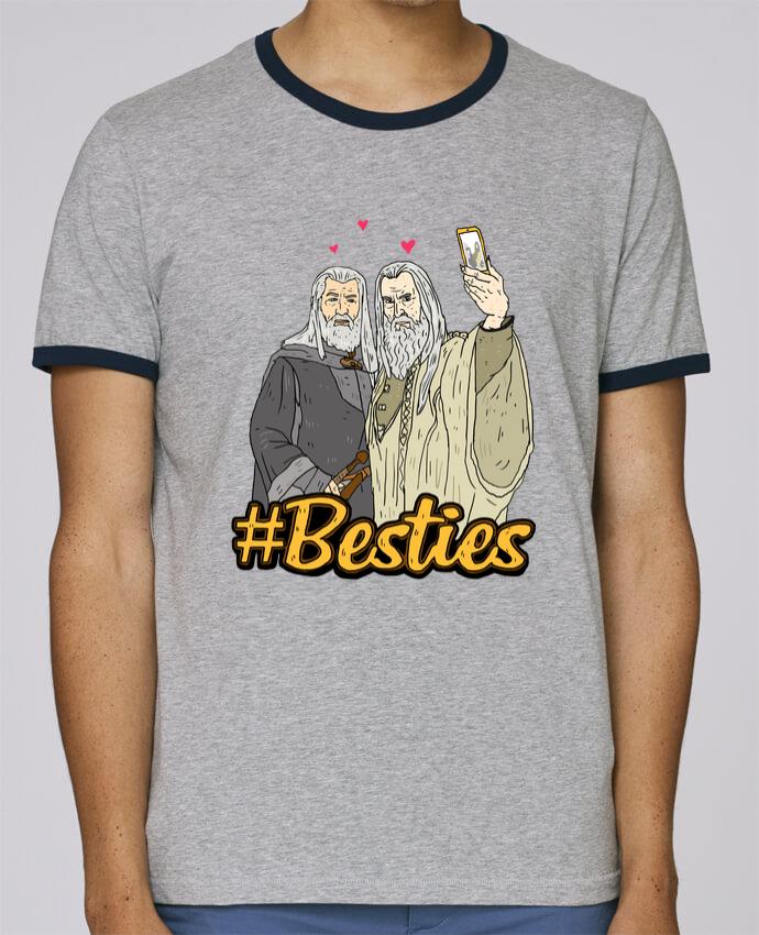Stanley Contrasting Ringer T-Shirt Holds #Besties Seigneur des anneaux pour femme by Nick cocozza