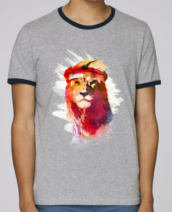 Stanley Contrasting Ringer T-Shirt Holds Gym lion pour femme by robertfarkas
