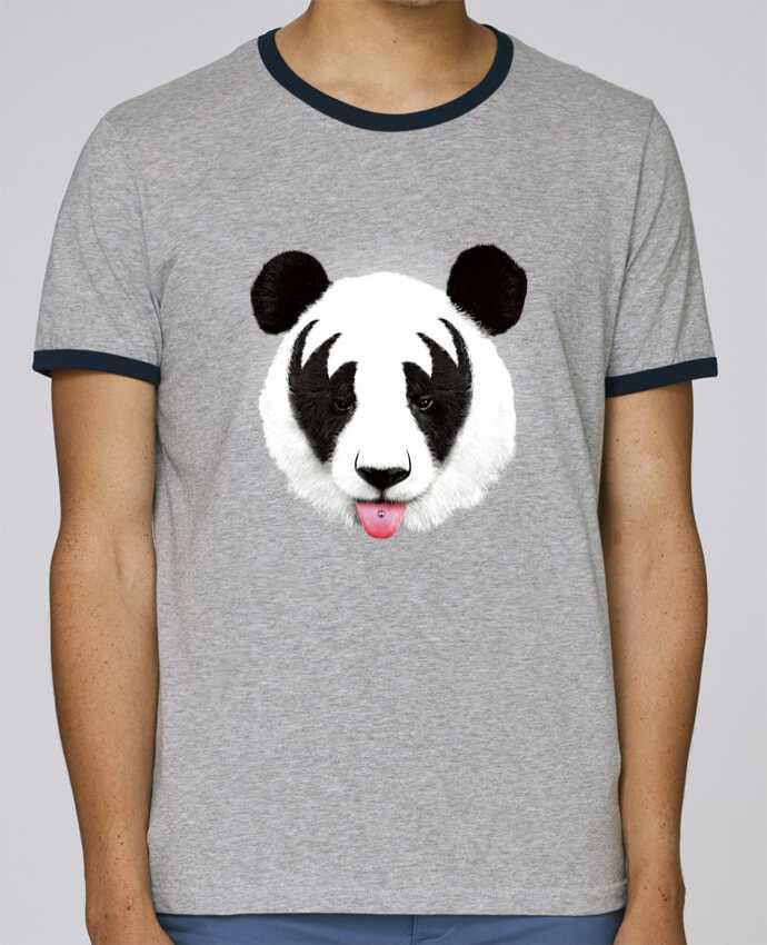 Stanley Contrasting Ringer T-Shirt Holds Kiss of a panda pour femme by robertfarkas