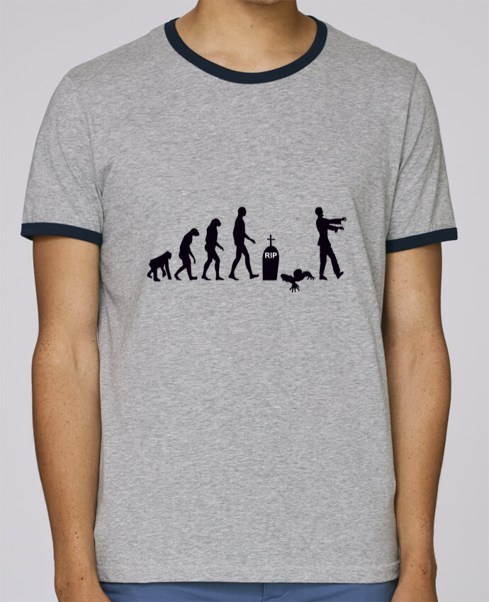 Stanley Contrasting Ringer T-Shirt Holds Zombie évolution pour femme by Benichan