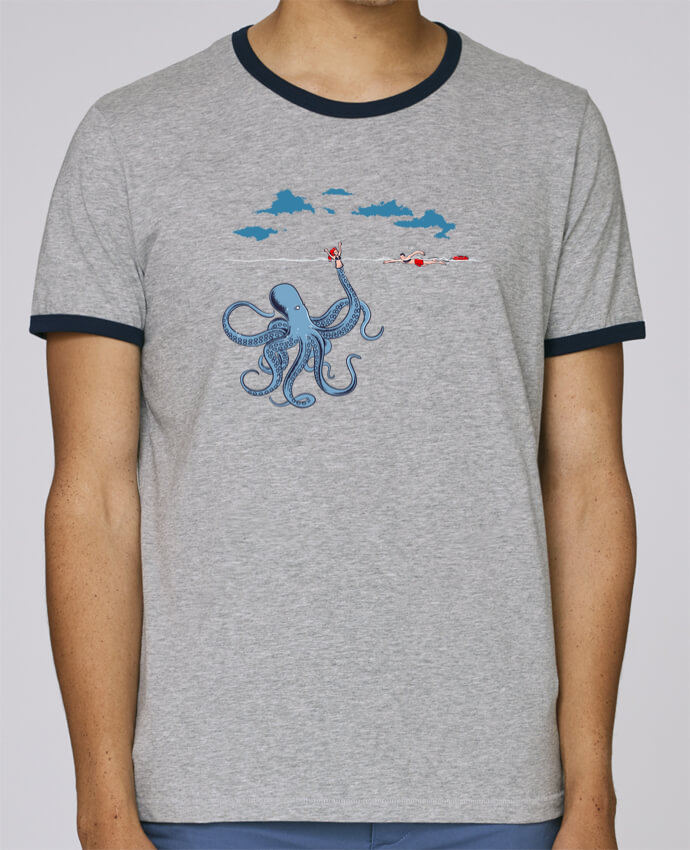 Stanley Contrasting Ringer T-Shirt Holds Octo Trap pour femme by flyingmouse365