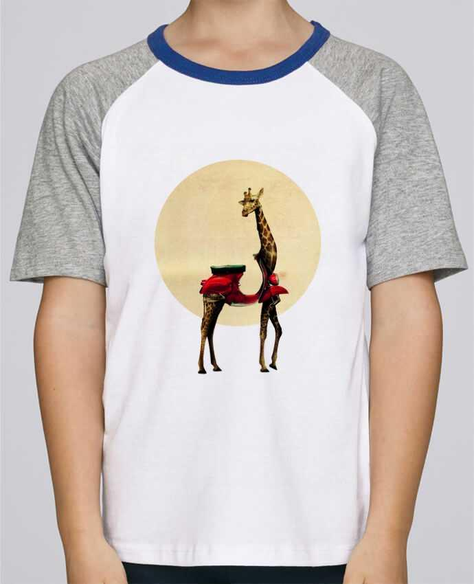 Tee-Shirt Child Short Sleeve Stanley Mini Jump Giraffe by ali_gulec