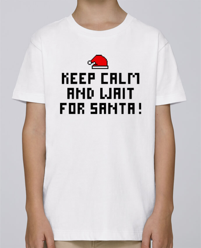Tee Shirt Boy Stanley Mini Paint Keep calm and wait for Santa ! by tunetoo