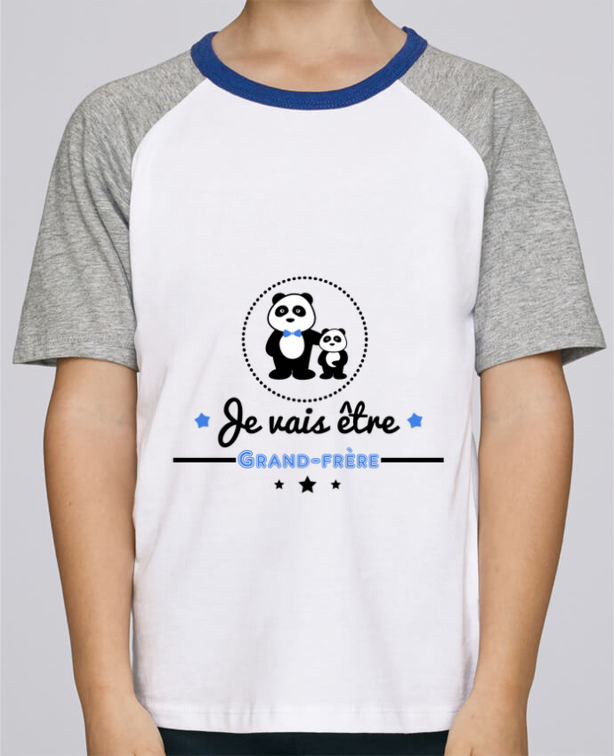 Tee-Shirt Child Short Sleeve Stanley Mini Jump Bientôt grand-frère - futur grand frère by Benichan