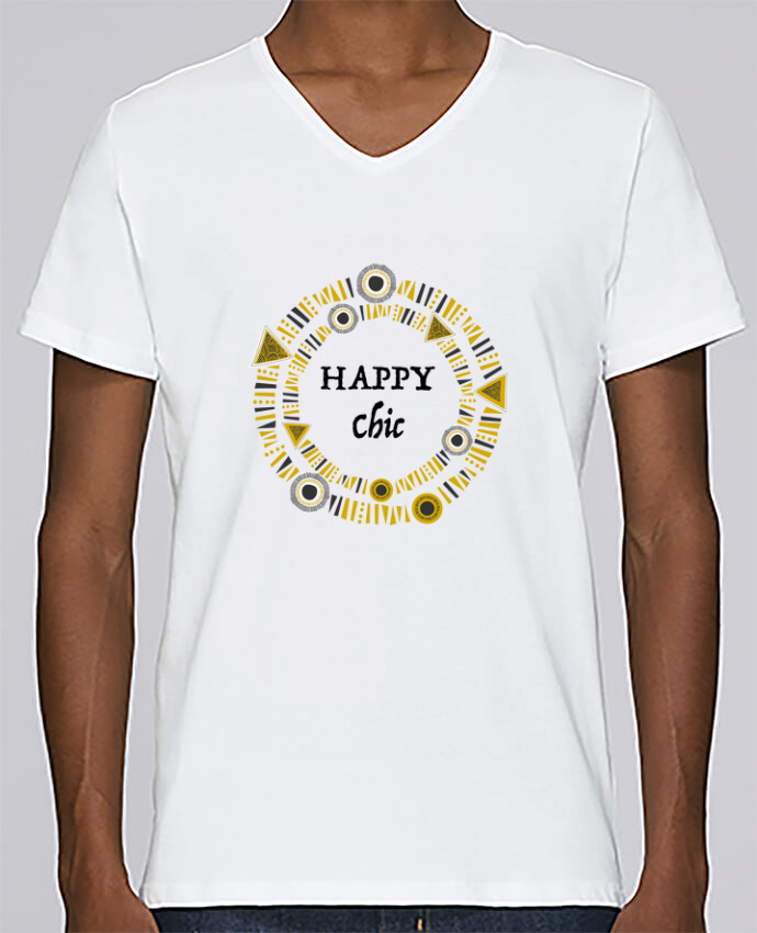 T-shirt V-neck Men Stanley Relaxes Happy Chic by LF Design