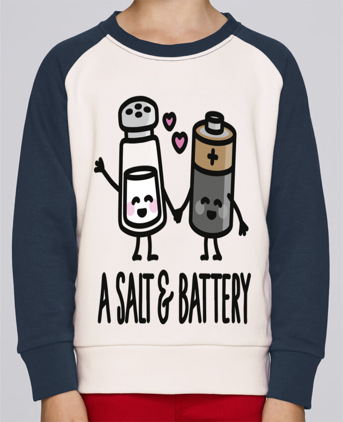 Sweatshirt Kids Round Neck Stanley Mini Contrast A salt and battery by LaundryFactory