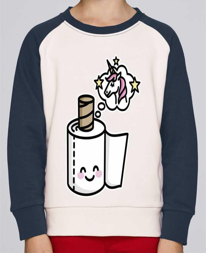 Sweatshirt Kids Round Neck Stanley Mini Contrast Unicorn Toilet Paper by LaundryFactory