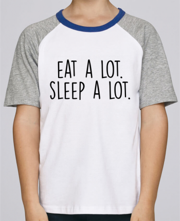 Tee-Shirt Child Short Sleeve Stanley Mini Jump Eat a lot. Sleep a lot. by Bichette