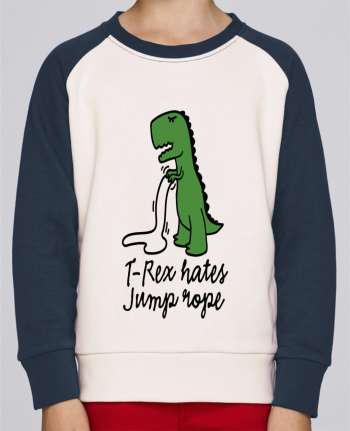 Sweatshirt Kids Round Neck Stanley Mini Contrast TREX HATES JUMP ROPE by LaundryFactory