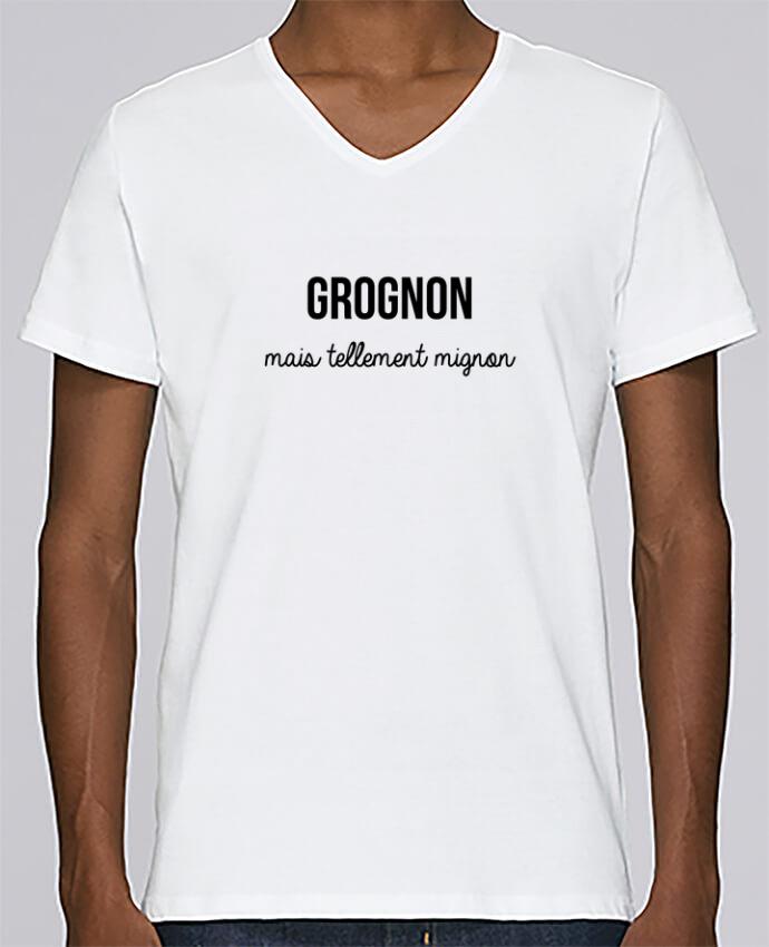 T-shirt V-neck Men Stanley Relaxes Grognon by tunetoo