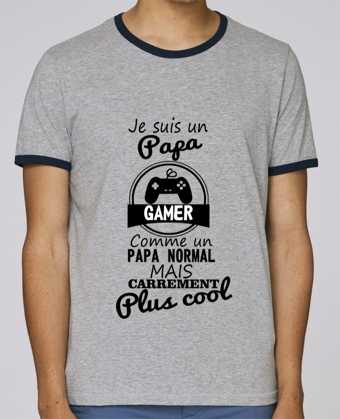Stanley Contrasting Ringer T-Shirt Holds Papa gamer, cadeau père, gaming, geek pour femme by Benichan