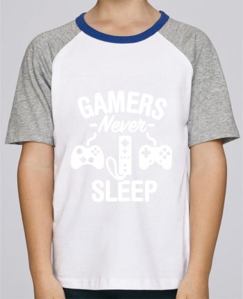 Tee-Shirt Child Short Sleeve Stanley Mini Jump Gamers never sleep by LaundryFactory
