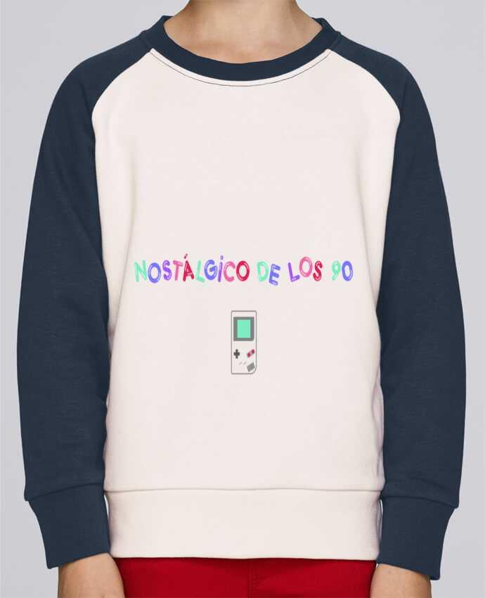 Sweatshirt Kids Round Neck Stanley Mini Contrast Nostálgico de los 90s Gameboy by tunetoo