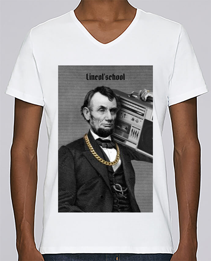 T-shirt V-neck Men Stanley Relaxes Lincol'school by Ads Libitum