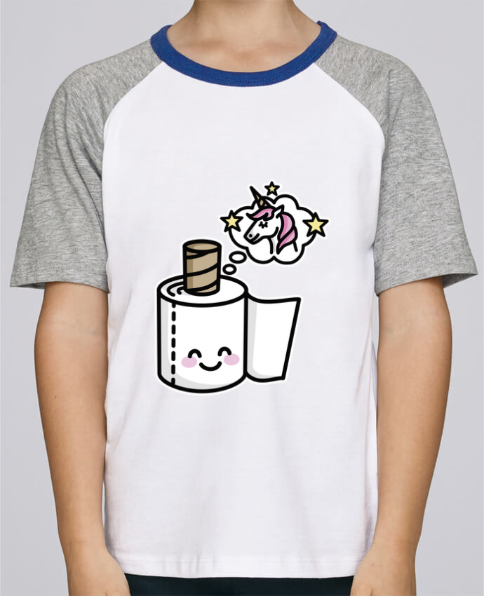 Tee-Shirt Child Short Sleeve Stanley Mini Jump Unicorn Toilet Paper by LaundryFactory