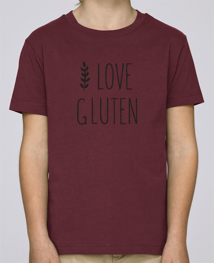 Tee Shirt Boy Stanley Mini Paint I love gluten by Ruuud by Ruuud
