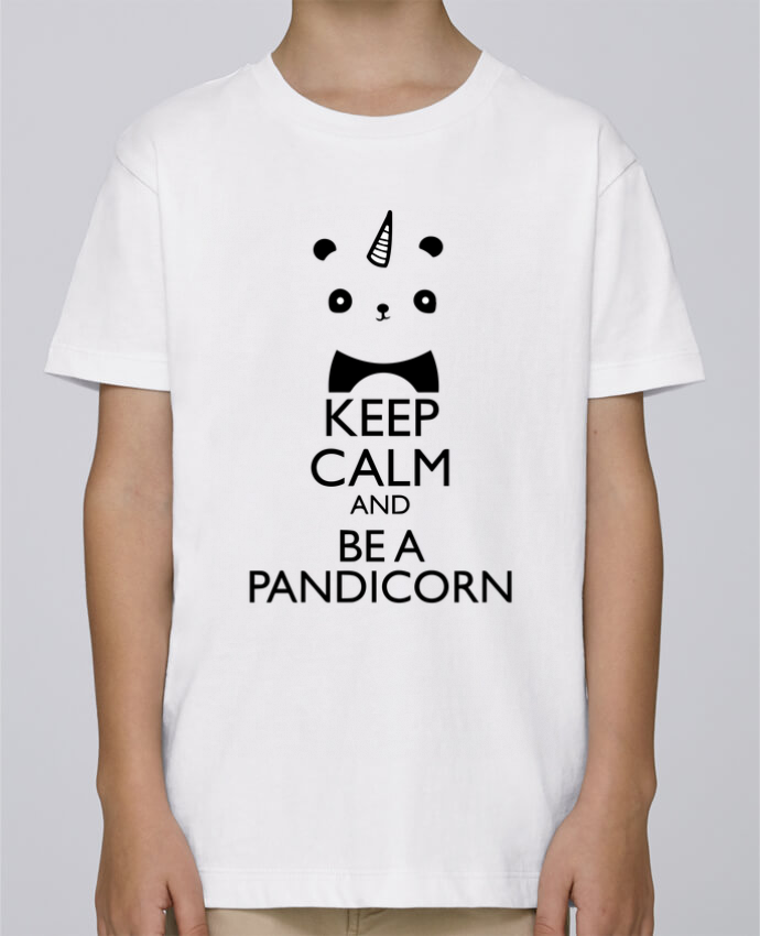 Tee Shirt Boy Stanley Mini Paint keep calm and be a Pandicorn by tunetoo