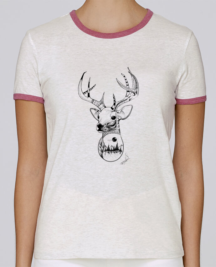 T-shirt Women Stella Returns .American Wolf. pour femme by The Wild Light