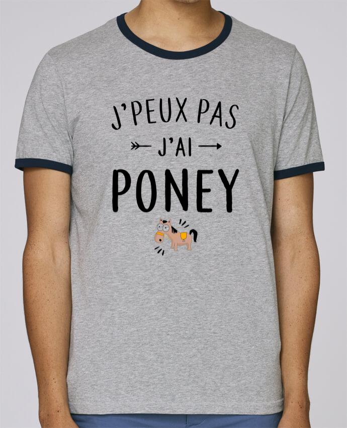 Stanley Contrasting Ringer T-Shirt Holds J'peux pas j'ai poney pour femme by LPMDL
