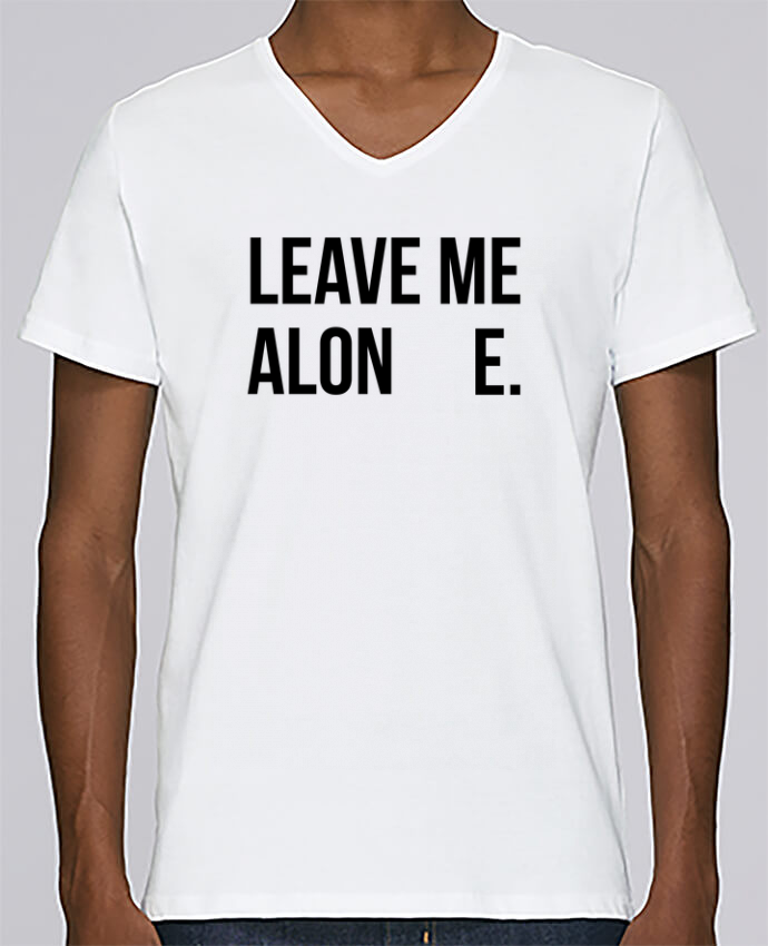 T-shirt V-neck Men Stanley Relaxes Leave me alone. by tunetoo