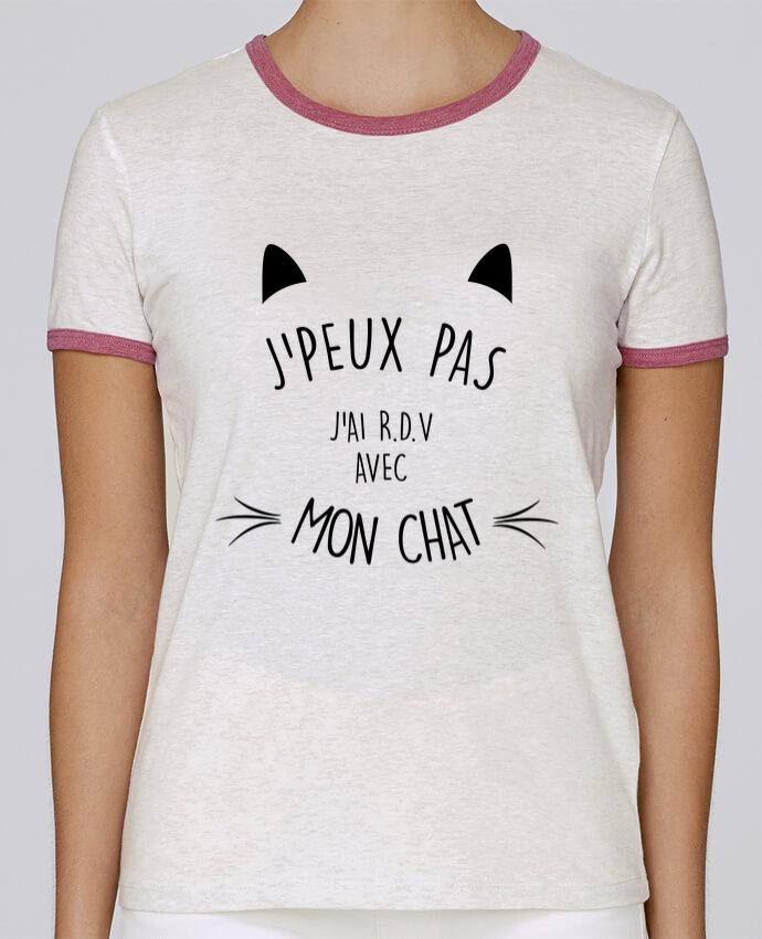 T-shirt Women Stella Returns J'peux pas j'ai R.D.V avec mon chat pour femme by LPMDL