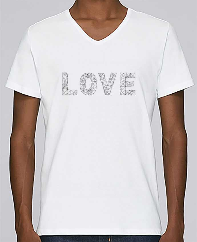 T-shirt V-neck Men Stanley Relaxes Love by na.hili