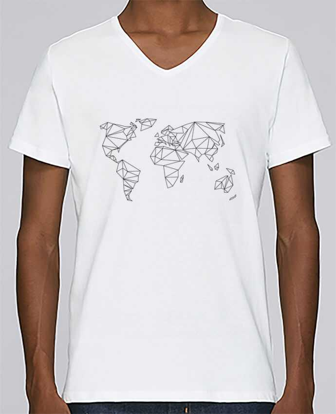 T-shirt V-neck Men Stanley Relaxes Geometrical World by na.hili