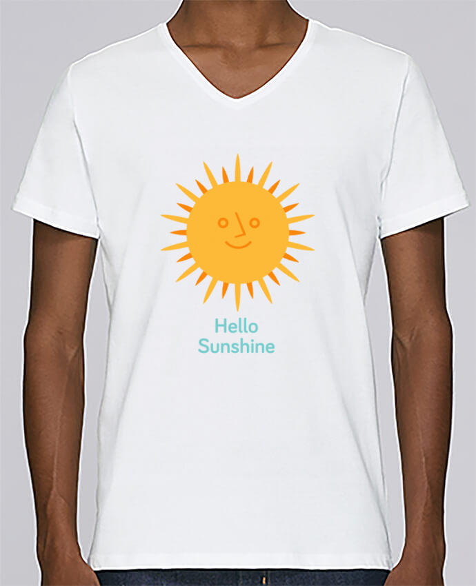 T-shirt V-neck Men Stanley Relaxes HelloSunshine by chriswharton