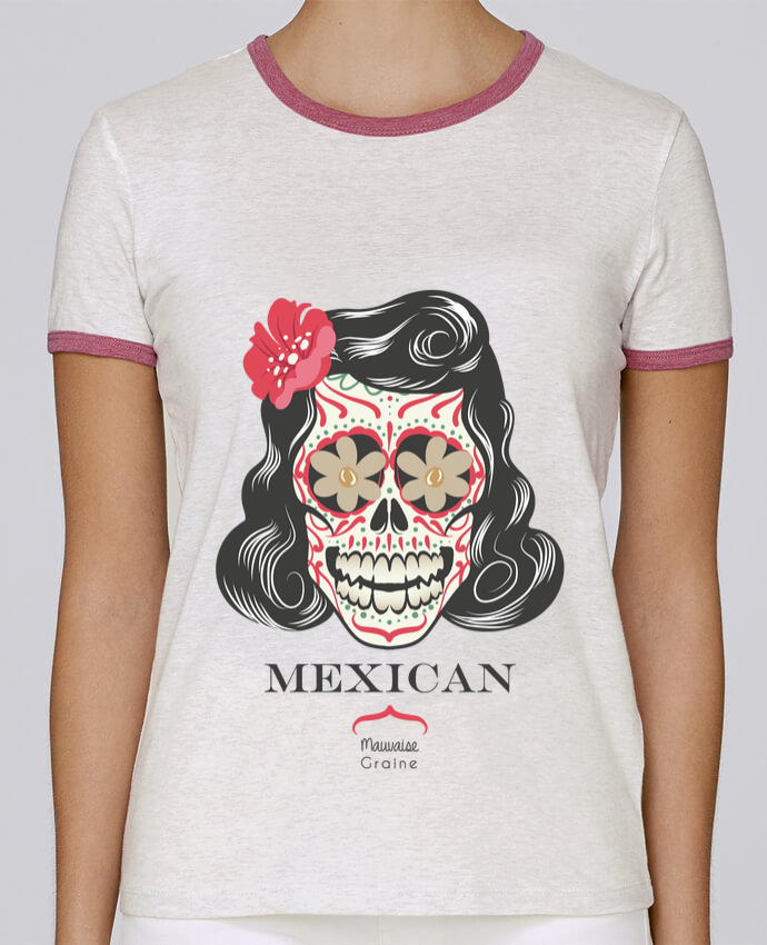 T-shirt Women Stella Returns Mexican crane pour femme by Mauvaise Graine
