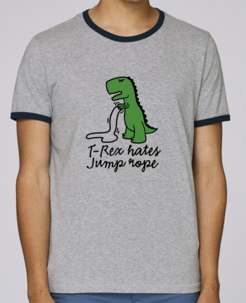 Stanley Contrasting Ringer T-Shirt Holds TREX HATES JUMP ROPE pour femme by LaundryFactory