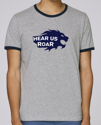 Stanley Contrasting Ringer T-Shirt Holds Hear us Roar pour femme by tunetoo