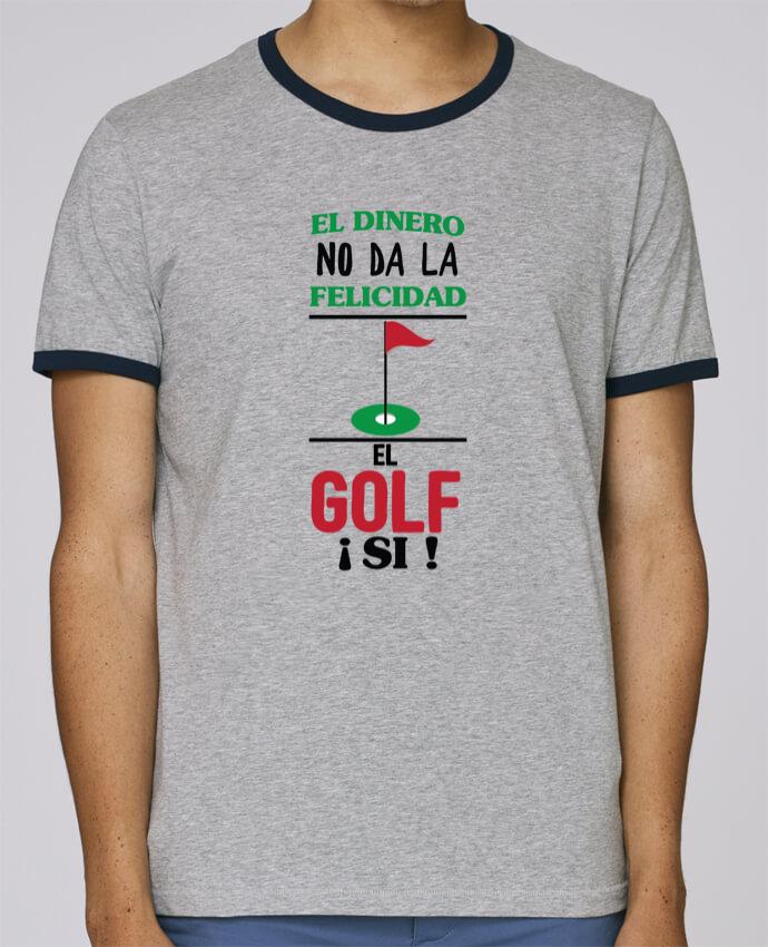 Stanley Contrasting Ringer T-Shirt Holds El dinero no da la felicidad, el golf si ! pour femme by tunetoo