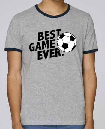 Stanley Contrasting Ringer T-Shirt Holds BEST GAME EVER Football pour femme by tunetoo