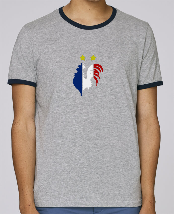 Stanley Contrasting Ringer T-Shirt Holds Champion du monde 2018 ! pour femme by AkenGraphics