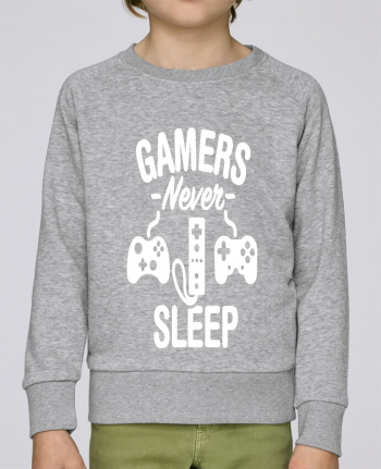 Sweatshirt Kids round neck Stanley Mini Scouts Gamers never sleep by LaundryFactory