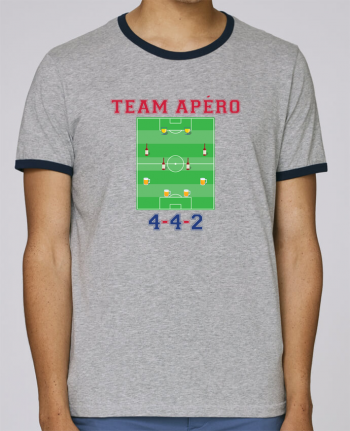 Stanley Contrasting Ringer T-Shirt Holds Team apéro football pour femme by tunetoo
