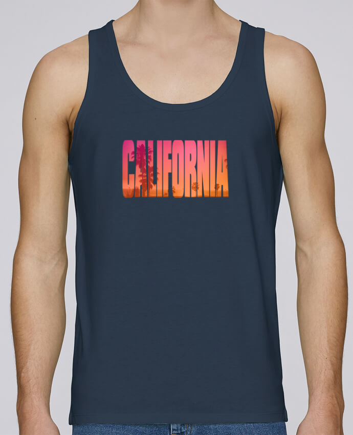 Tank Top Men Stanley Runs Organic cotton California by justsayin 100% coton bio