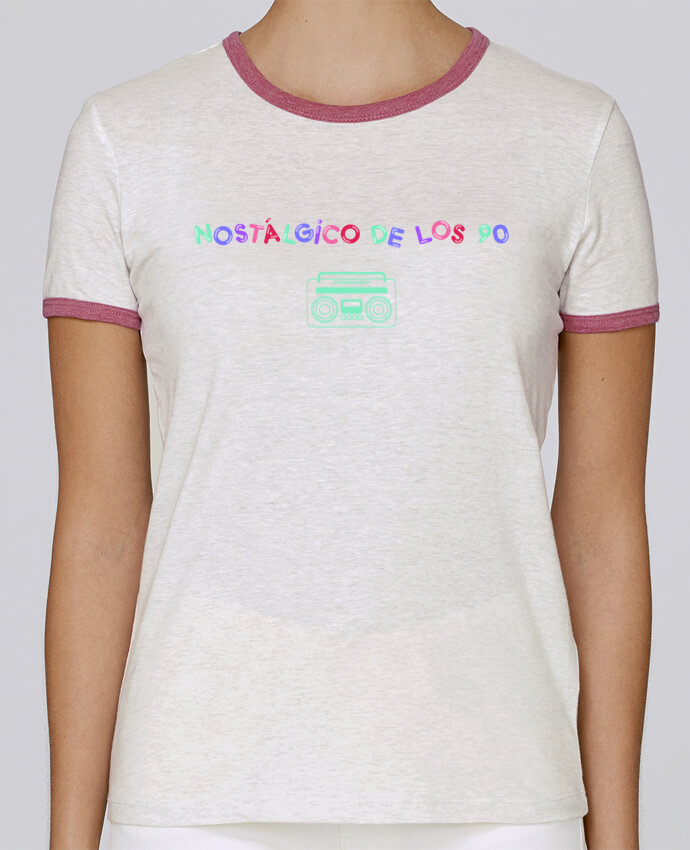 T-shirt Women Stella Returns Nostálgico de los 90 Radio pour femme by tunetoo