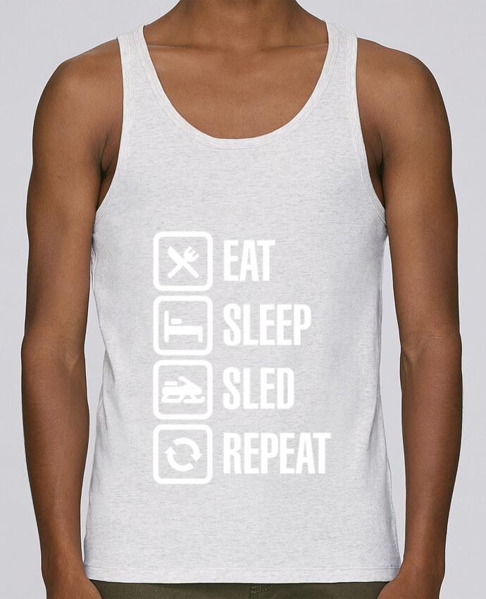 Tank Top Men Stanley Runs Organic cotton Eat, sleep, sled, repeat by LaundryFactory 100% coton bio